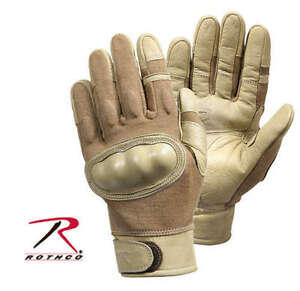 NEW! Rothco Hard Knuckle Tactical Assault Tactical Gloves 3492 Coyote X-Large