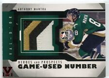 ITG FINAL VAULT 13 HEROES & PROSPECTS GAME-USED NUMBER ANTHONY MANTHA 1/1 *34498