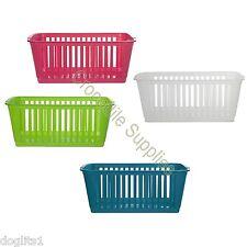 Coloured Plastic Shelf Drawer Cupboard Dividers Tidy Organiser Storage Baskets