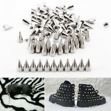 7*15mm Cone Screwback Metal Studs Leathercraft Rivet Bullet Spikes Spots 100PCS