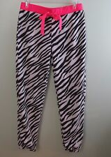 "Soft & Fuzzy Sleep Lounge Pants Black & White Zebra Print ""#SELFIE"" Size 3X NWT"