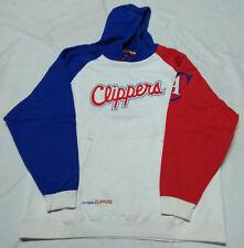 Felpa con cappuccio Reebook LA Clippers, bianca, rossa, blu, taglia XL