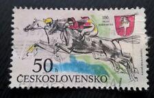 Czechoslovakia stamps - Grand Pardubice Steeplechase, Centenary - 50 haler 1990