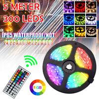 5M 300 LEDs 2835/5050RGB LED Strip Lights 44 Keys Remote Control  New