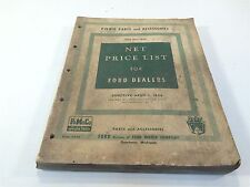 Net Price List for Ford Dealers, Ford Parts and Accessories 1928 thru 1956