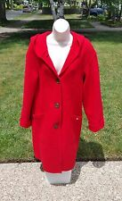 geiger austria women's red pure wool coat  *  little red riding hood style