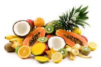 Framed Print – Tropical Fruit (Food Picture Kitchen Kiwi Coconut Lemon Oranges)
