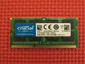 Crucial 4GB (1-Stick) DDR3L-1600 PC3-12800 SODIMM Memory CT51264BF160B.CF16FKD