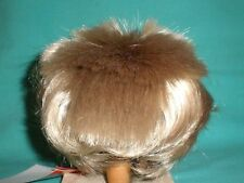 "doll wig blond 12.5"" to 13.5"" Glorex  spikey hair"