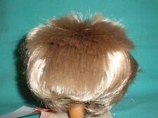 """doll wig blond 12.5"""" to 13.5"""" Glorex  spikey hair"""