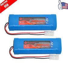 2X 7.2V 3800mAh Ni-Mh Rechargeable Battery Pack For RC Car With Tamiya Plug USA