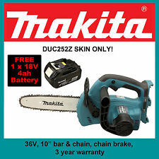 Makita 36V DUC252Z Lithium-Ion Chainsaw Console with 1 x FREE 18v 4ah battery