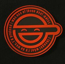GHOST IN THE SHELL LAUGHING MAN LOGO 3D PVC BLACK OPS RED ARMY VELCRO® PATCH