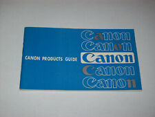 VINTAGE BOOKLET FOR THE CANON CAMERAS AND ACCESSORIES -FREE SHIPPING