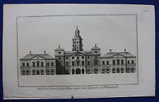 Original antique print LONDON, HORSE & FOOT GUARDS AT WHITEHALL, Maitland, 1756