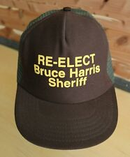 Vintage Re-Elect Sheriff Bruce Harris Trucker Hat Snapback Hipster Cap