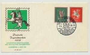 Bund Nr. 286-287 auf Ersttagsbrief / FDC, Schmuckbrief (35102)