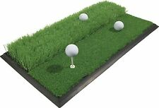GOLF MAT - New, Dual Surface large size 33.8cm x 63cm (With rubber tee)