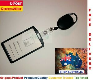 Retractable Id Badge Lanyard opal card holder business security Pass 5000 Sold