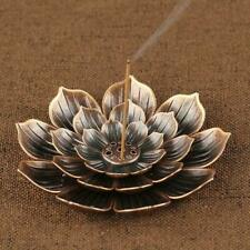 Bronze Incense Stick Holder Round Plate Buddhism Insense Ash Insence Cone A7D2