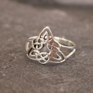 Keltisch Triqueta 925 Sterlingsilber Ring Schmuck