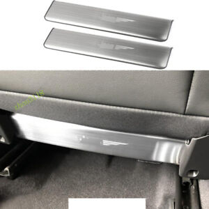 Silver Stainless Seat Anti Kick Pad Protective Trim For 2017-2021 Jeep Compass