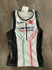 Women's Triathlon Castelli Free Donna Top Brand New White Size Medium