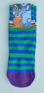 PAUL SMITH blue green stripe cycling socks bicycle SIZE 7 to 9 and 9 to 11