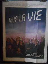 AFFICHE originale grand format ( 120 x 160 ) VIVE LA VIE de C Lelouch .