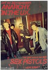 SEX PISTOLS 'Anarchy In The UK' Window Poster 1976 for first 45 - reprint