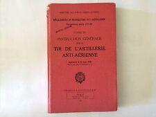 REGLEMENT MANOEUVRE ARTILLERIE TIR ANTI AERIENNE 1951 MILITARIA ILLUSTRE