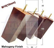 4x Meuble en bois pieds de remplacement pieds canapé, fauteuil tabouret hauteur 150 mm M10 (10 mm)