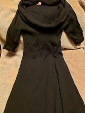 Derek Heart M Black Short Sleeve Cowl Neck Sweater Knit Dress