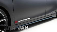 V6 PERFORMANCE Vinyl skirt  Decal sport racing door sticker WHITE/RED