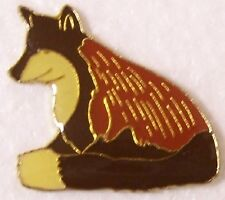 Hat Lapel Pin Scarf Clasp Animal Brown Wolf NEW