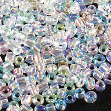 Perles de Rocailles en verre Transparent 2mm Cristal AB 20g (12/0)