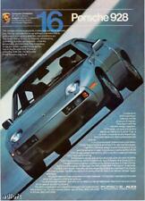 "1982 Porsche 928 Coupe photo ""Vehicle Responsiveness"" vintage promo print ad"