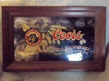 "ADOLPH COORS/BICENTENNIAL/BEER SIGN/171/2"" X 28""/GLASS FRAME"