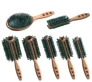 Haarbürste Rundbürste Holzbürste Fönbürste Naturborsten Friseur Palisander Bürst