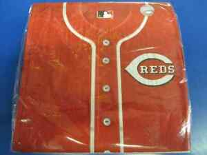 Cincinnati Reds MLB Pro Baseball Sports Banquet Party Paper Luncheon Napkins