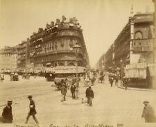 Photo Albuminé Marseille Rue de la République Vers 1880/90