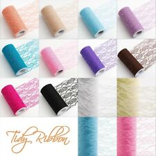 "Lace Net Fabric 6"" Tulle Tutu Wedding Venue Chair Tie Sash Floral Table Roll"