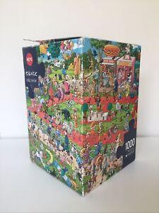 HEYE 1000 Piece Jigsaw Puzzle 2016 Brigit Tanck Dog Show Art. Nr. 29788