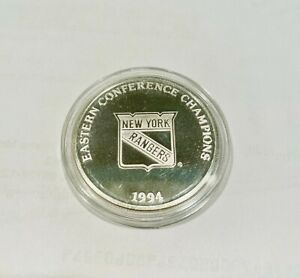 1994 New York Rangers Eastern Conference Champions Coin .999 Fine Silver Round