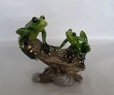 Golden Pond Frogs On A Log Figurine/Statue * New * Frog Gift