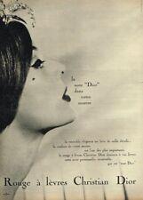 Q- Publicité Advertising 1969 Maquillage rouge à lèvres Christian Dior