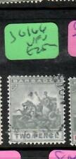 BARBADOS  (P1505B)  SEA HORSE   2D      SG 166    VFU