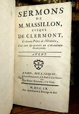 1760 SERMONS OF MASSILLON