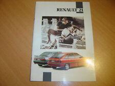 CATALOGUE Renault 21 de 1992 Suisse