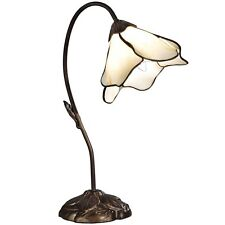 Dale Tiffany Beige LILY Light Table Lamp Bronze Lighting Arts And Crafts Mission